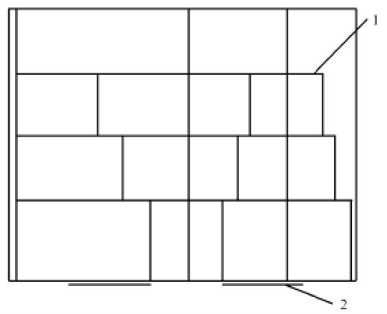 多排式组合架活动温室侧面图